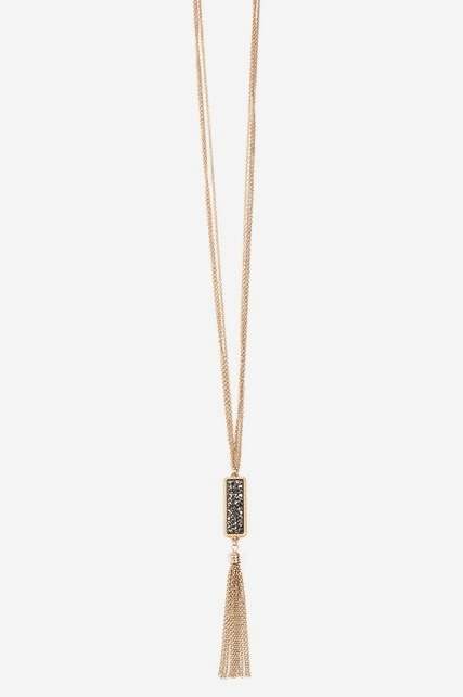 Drop Pave Necklace
