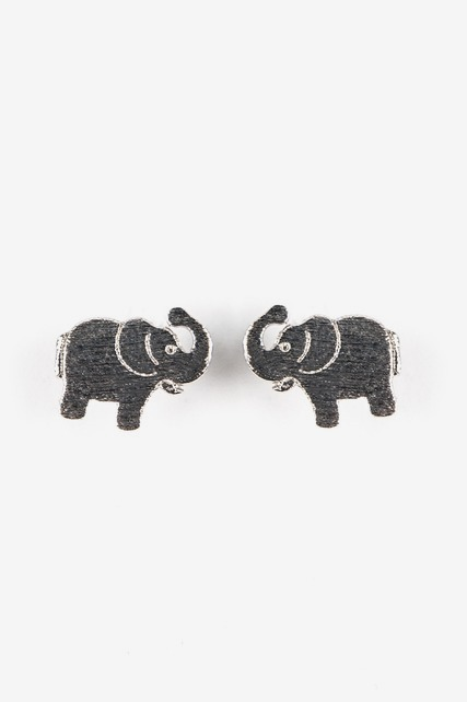 Brushed Elephant Studs
