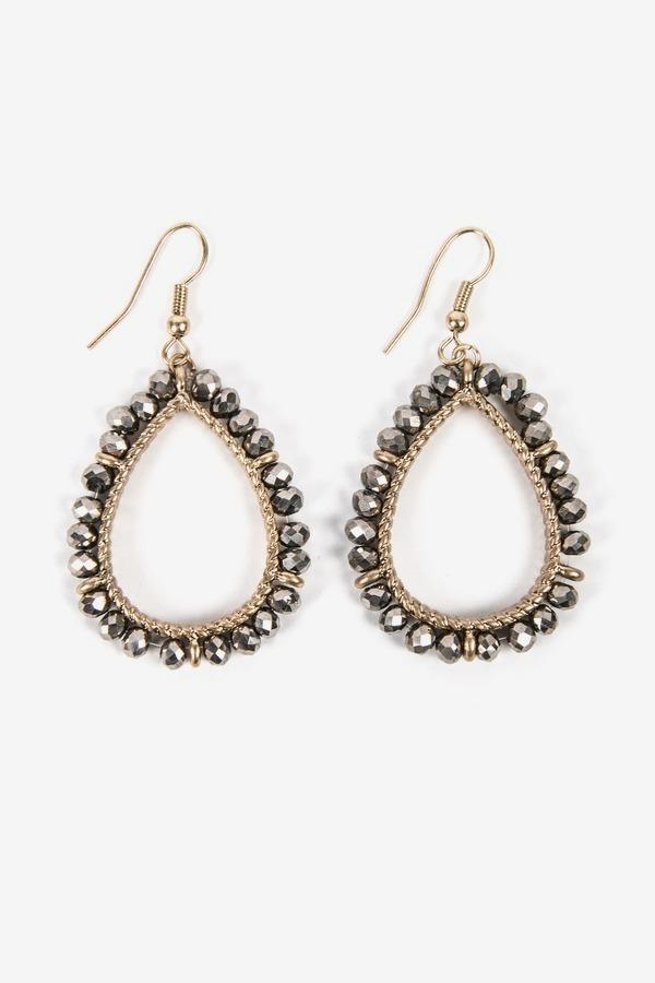 Wrap Wire Drop Earrings