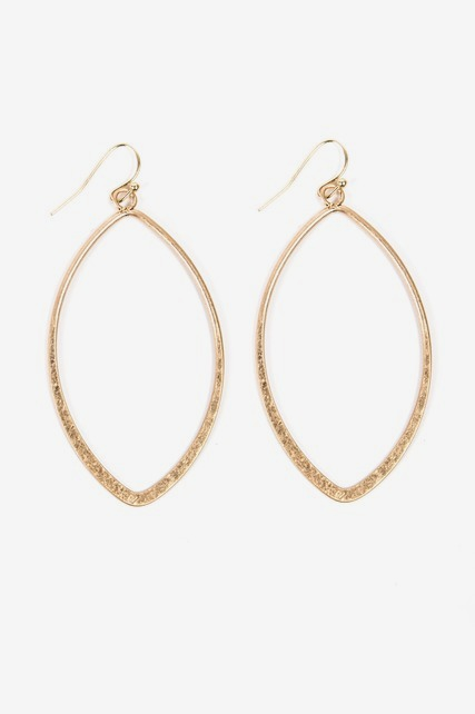 Organic Gold Hoops