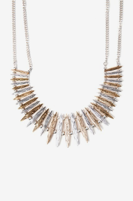 Spiked Mixed Necklace
