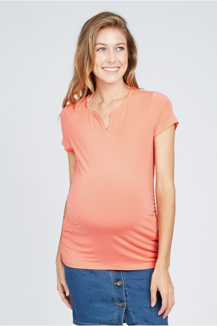 Side Shirred Tee