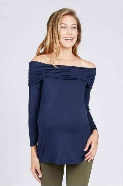 Fold Over Shoulder Top