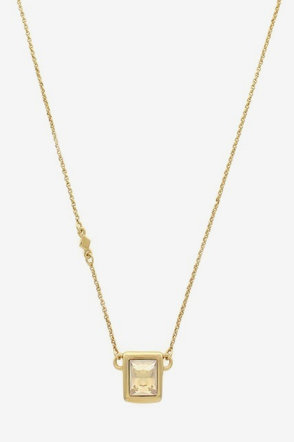 Square Stone Necklace