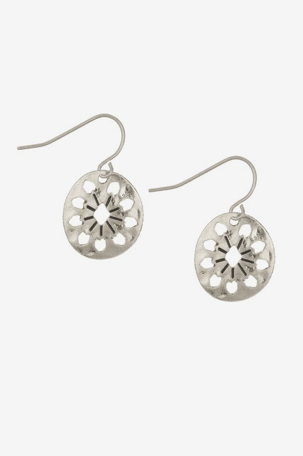 Disc Cut Out Earring