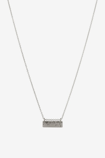 Etched Bar Necklace