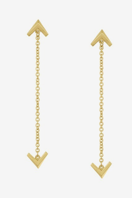 Double Chain Drop Earring