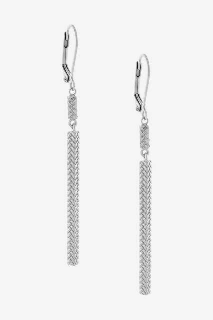 Basket Weave Bar Earring