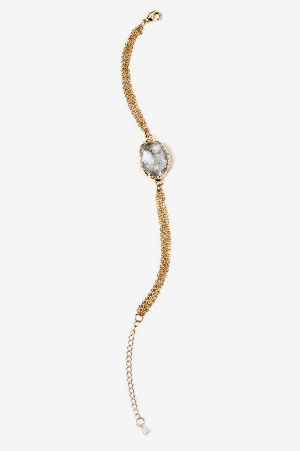 Druzy Chain Bracelet