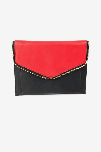Colorblock Zipper Clutch