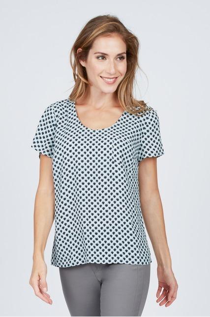 Scallop Pattern Pocket Top