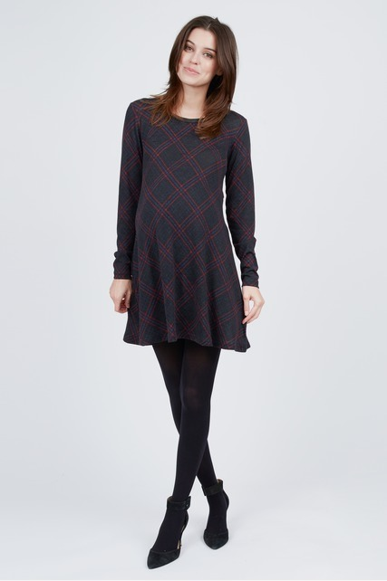 Argyle Printed Tunic Dress