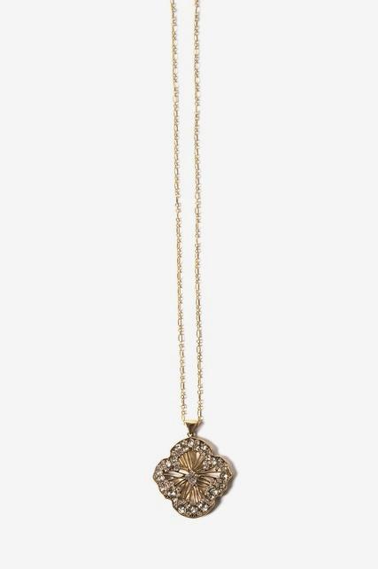 Gold Tone Crystal Pendant