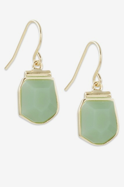Light Green Drop Earring