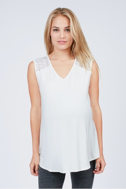 Contrast Shoulder Top