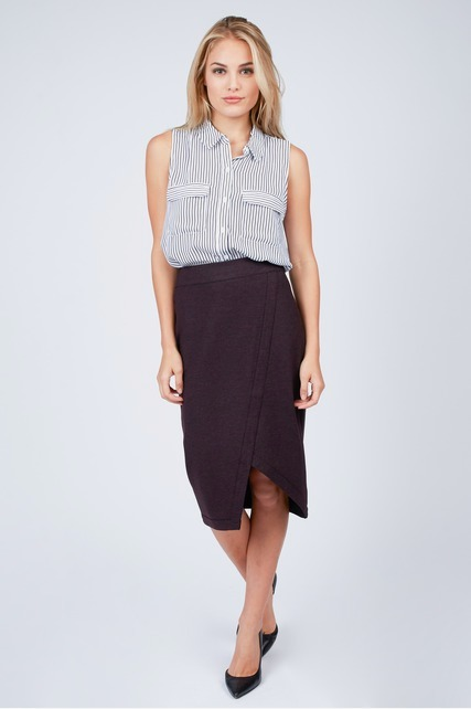 Asymmetrical Ponte Skirt