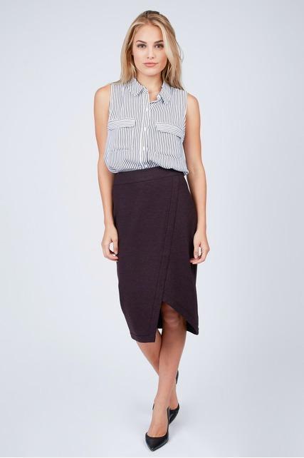 Asymmetrical Ponte Skirt