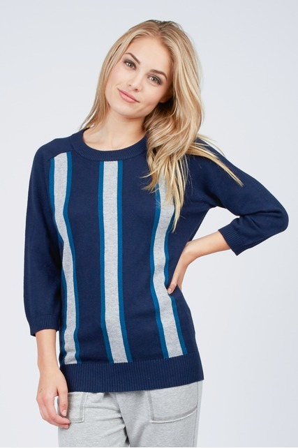 Vertical Stripe Sweater