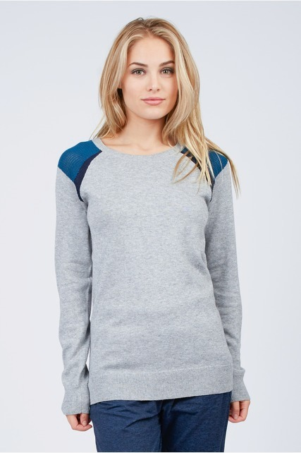 Mesh Knit Shoulder Sweater