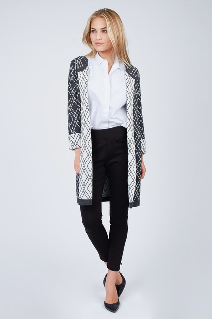 Printed Duster Cardigan
