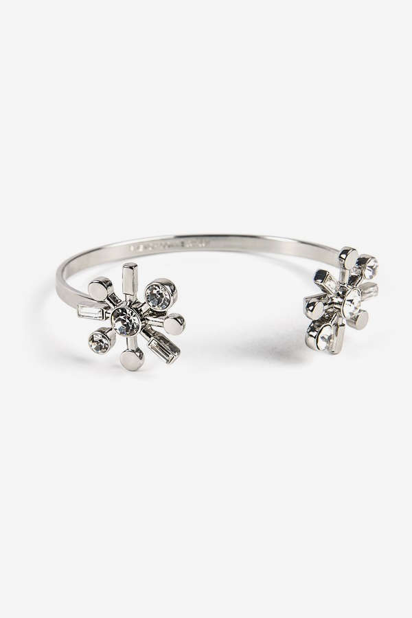 Crystal Flower Cuff
