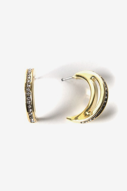 Large Moon Pave Hoops