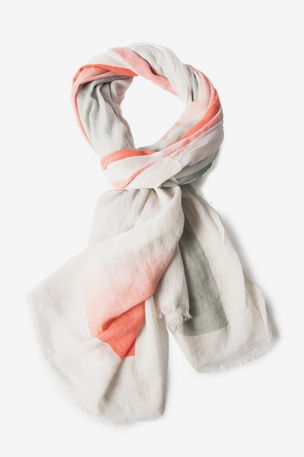 Coral Block Scarf