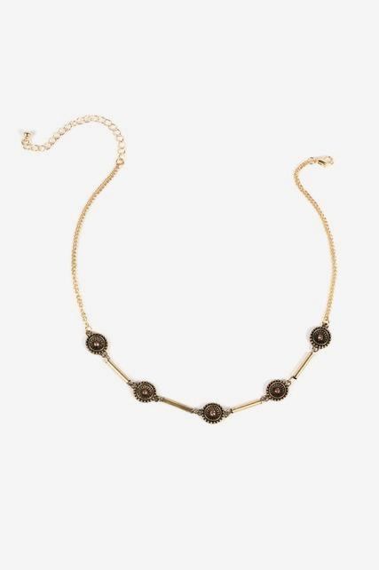 Antiqued Jewel Necklace