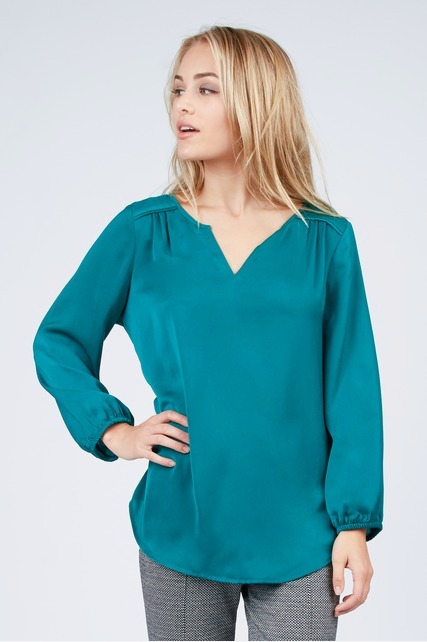 Teal Blouson Sleeve Top