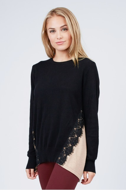 Color Block Lace Sweater