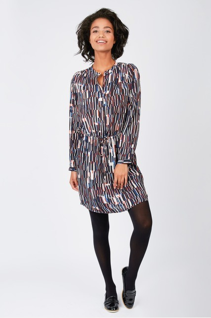 Geo Printed Shirt Dress