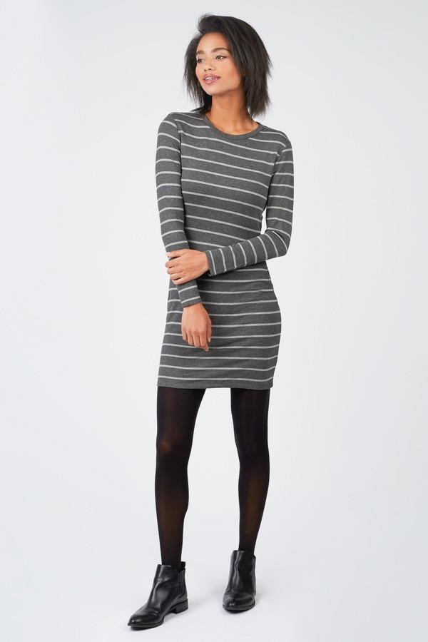 French Terry Stripe Dress