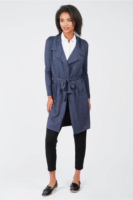 Lightweight Sueded Wrap Jacket