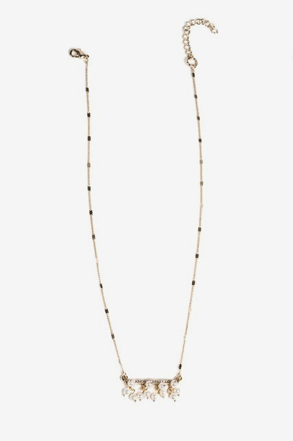 Pearl & Bar Necklace