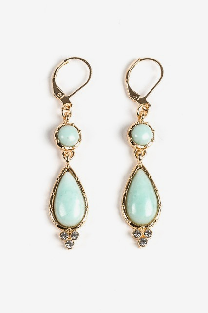 Mint Drop Earring