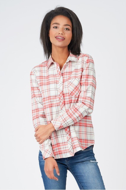 Coral Flannel Shirt