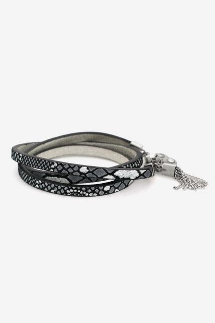 Snake Print Wrap Bracelet