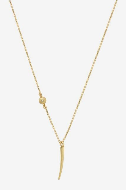 Gold Horn Pendant