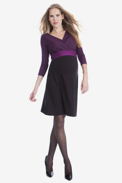 Color Block Nursing Dress
