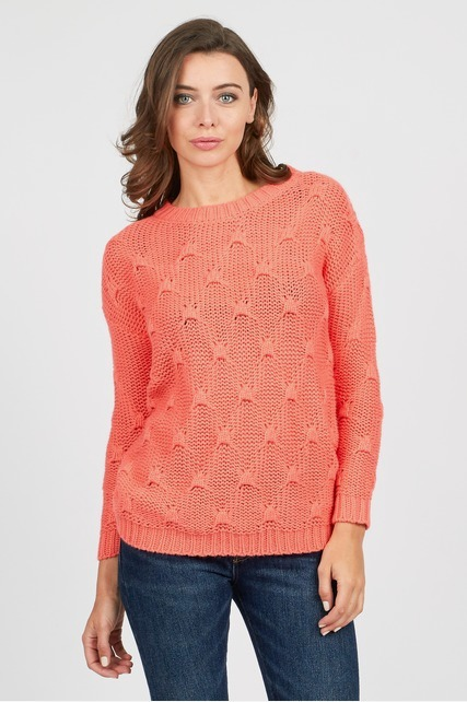 Bright Cable Knit Sweater