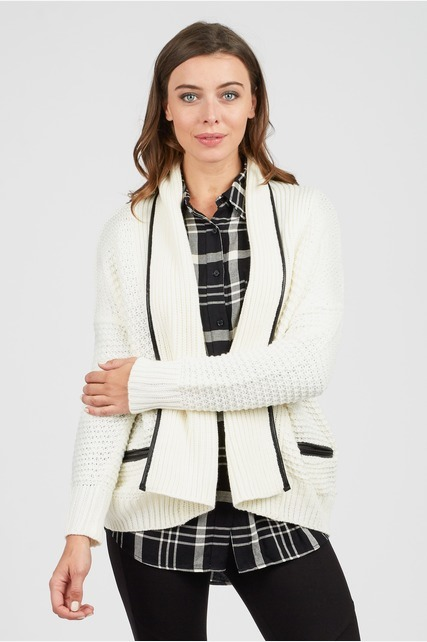 Contrast Piping Cardigan