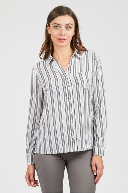 Geometric Stripe Blouse