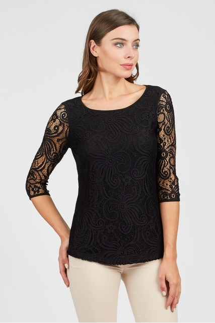 3/4 Lace Top