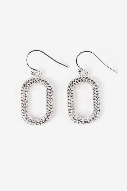 Textured Oblong Earrings