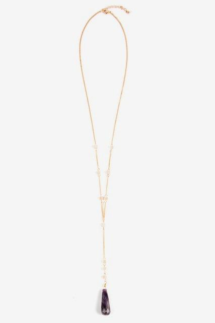 Semi Y Necklace