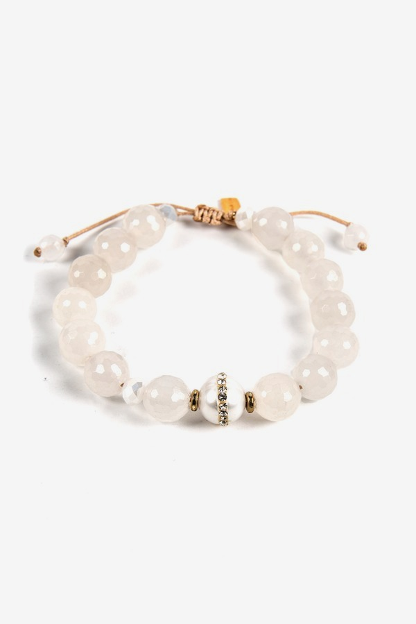 Pave Pearl Bead Bracelet