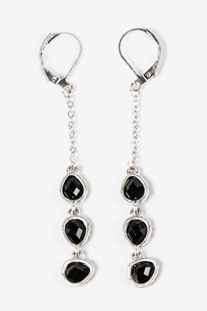 Triple Drop Leverback Earrings