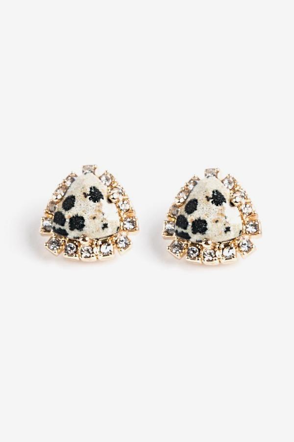 Dalmatian Crystal Studs