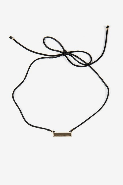 Bar Choker Wrap Necklace