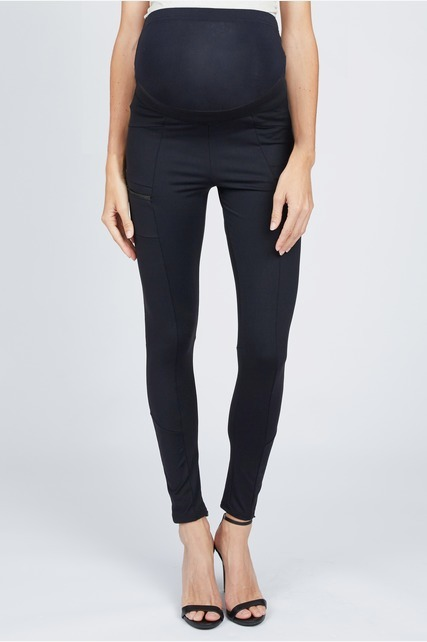 Seamed Zipper Leggings